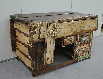 Amazing Vintage Industrial Rustic Workbench * Kitchen Island