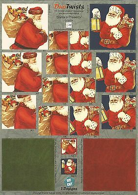 3D Paper Tole, Die cut, Bulk Christmas Mix Pack 10 x A4 Sheets, Pyramid Stackers