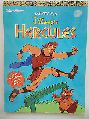 Disney Hercules Activity Pad Golden Books Coloring Book NEW Unused 1997 Gift