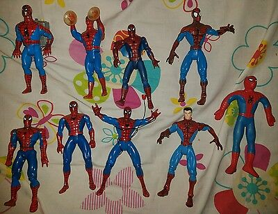 Spiderman Figure Toy Lot 1990 Toy Biz Animated Series 2000 Greatest Moments More