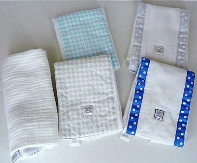 Swaddle Designs Baby Burpies Dots Blue Lot Aden + Anais Swaddle Blanket