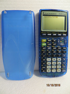 TEXAS INSTRUMENTS TI-83 Plus graphing scientific calculator ..(Clear Blue)