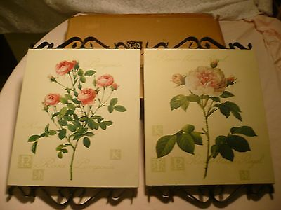 Home Interior 2 piece floral  canvas  pictures unframed NIB