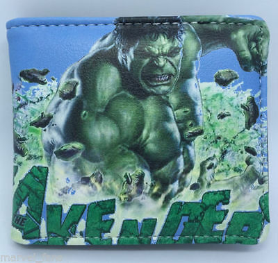 Cool FREE SHIPPING HULK Anime Cosplay leather Purse Wallet men's kid's NEW