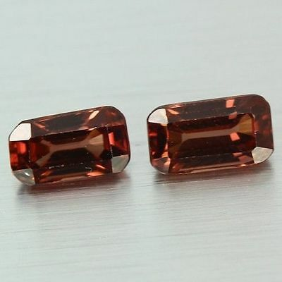 2.410 Cts Full Fire Natural Natural Earth Mine Red Zircon Loose Gemstone Pair