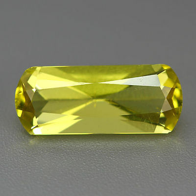 6.445 Cts UNIQUE RARE AWESOME ATTRACTIVE 100% NATURAL GOLDEN YELLOW PRASIOLITE