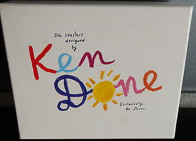 Ken Done Coasters - Boxed - One Missing - Exc Condition - Australian Capitals