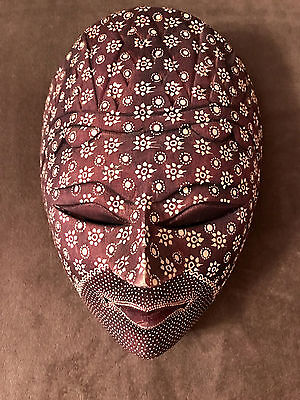 Handcarved Wooden Mask Wall Hanging Batik From Bali