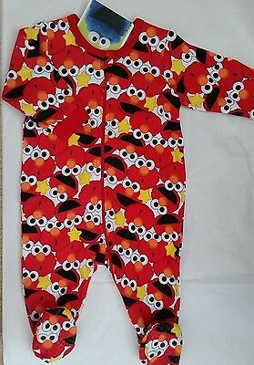 SESAME STREET ELMO Boy licensed romper all-in-one coverall cotton NEW sz 000-1