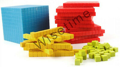 Base Ten Block (131 Plastic pcs.), Dienes Block, Place Value set, Base 10 set
