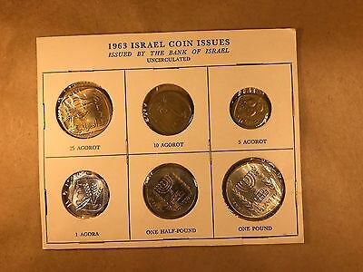 ISRAEL COINS  Uncirculated 1963 Coins Issues  2 SETS IN THIS PACKAGE  P-26