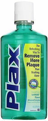 Plax anti-plaque dental rinse, soft mint - 16 oz