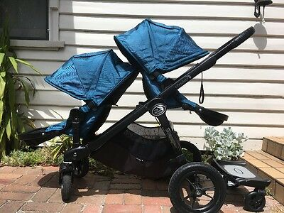 Baby Jogger City Select Double Pram with Glider Board - Teal