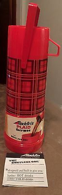 "VINTAGE Aladdin's Plaid ""The Rustless One"" Thermos 1 Quart Glass Insert **NEW**"