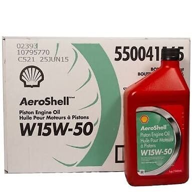 15W50 Aeroshell Oil 12 Quarts Carton