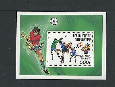 World Cup Held in Spain 1982 Soccer Players  Mini Sheet Complete MUH/MNH
