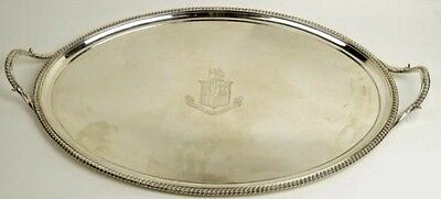 A LARGE HANNAM & CROUCH STERLING SILVER ENGLISH TRAY LONDON 1789 90oz/2.5kg