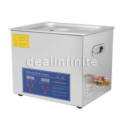 Stainless Steel 490W 10L Liter Industry Heated Ultrasonic Cleaner Heater Timer