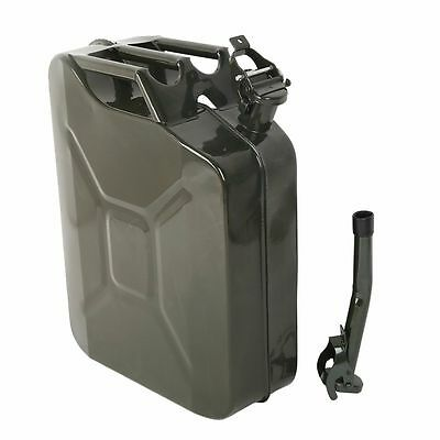 Jerry Can 5 Gal 20L NATO Style Gasoline Fuel Can Metal Gas Tank Emergency Backup