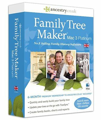 Ancestry Family Tree Maker Mac 3 Platinum Software