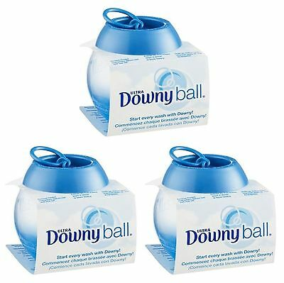 3 Downy Ultra Fabric Softener DISPENSER BALL Top Loading Washers Pull Pour Toss