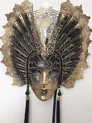 Wall Hanging Home Decor Authentic Hand Made Papier Mache Venetian Large Mask