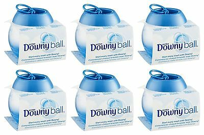 6 Downy Ultra Fabric Softener DISPENSER BALL Top Loading Washers Pull Pour Toss