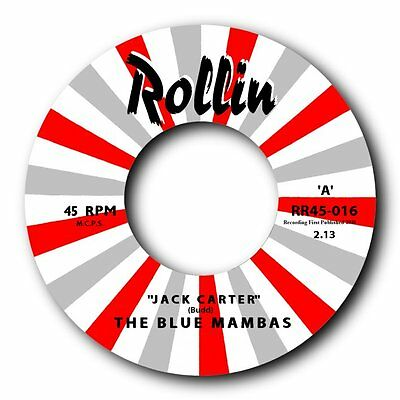 "THE BLUE MAMBAS - ""GET CARTER"" FANTASTIC SURF VERSION b/w ""ON THE ROAD AGAIN"""