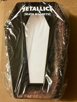 Metallic Death Magnetic Promotional Lunch Box Brand New Sealed Coffin Shaped