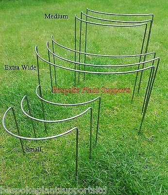 Plant Supports, Garden Pack -9 Solid Metal Supports - 3 of each type