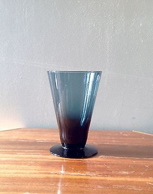 Mid-Century Holmegaard (?) Scandinavian Teal Glass Footed Cone Shape