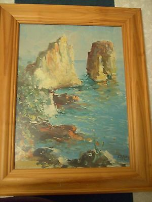 'Capri 1961' Oil on Canvas by Pace