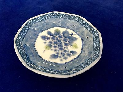 Blue and White Floral Plate with stand
