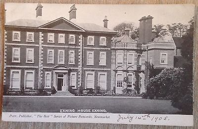 Exning Postcard Showing Exning House (1905)