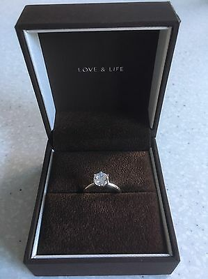 18Carat White Gold 1.00ct Diamond Solitaire Ring (Size J)