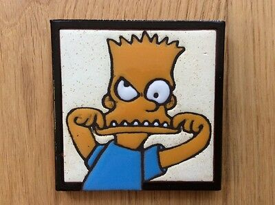 Highly collectible The Simpsons - Bart Simpson ceramic wall tile