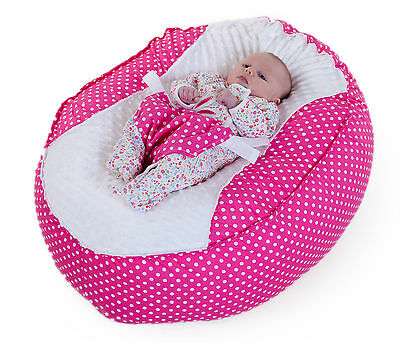 Baby Bean Bag Chair !!! New Unique Design !!! - *** Pink Polka ***