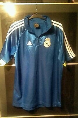 Excellent REAL MADRID FOOTBALL SHIRT Blue Adidas