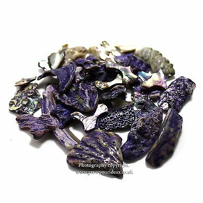 Rare Purple Tumbled Abalone pieces – for crafts or terrarium projects 100g