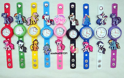 My Little Pony Jibbitz Band Watch & A Selection Of 10 Pony Charms, Brand New