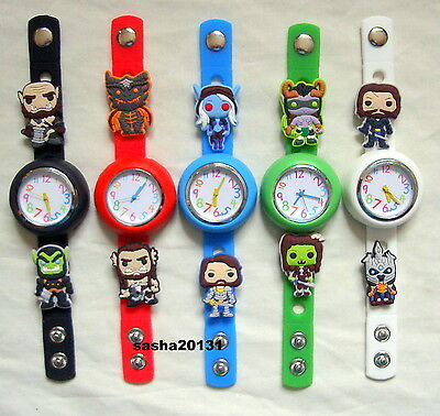 World Of Warcraft Jibbitz Band Watch & 10 Character Charms, Brand New