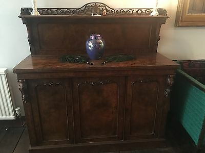Extremely high quality mahogany and rosewood? Regency C19th chiffonier