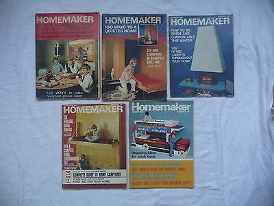 10 Nr Vintage Homemaker Magazines & Supplements - 1966 to 1969