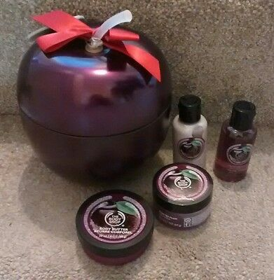 "* The Body Shop 'Frosted Plum"" Tin Gift Set *"