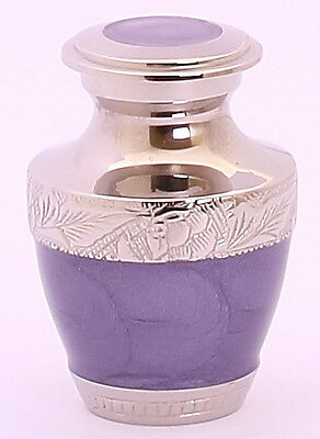Mini Keepsake For Ashes ,Cremation Funeral Memorial Remembrance Urn Small Purple