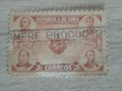 1  Stamp  Correos Brown 3 Cent  Used