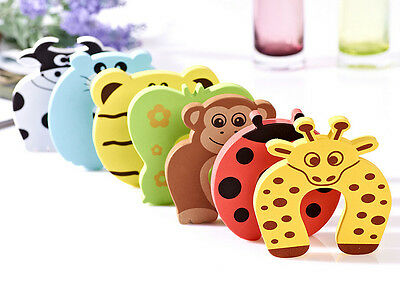 6 x Baby Child Kids Animal Door Stopper Jammer Safety Finger Protector Guard FO