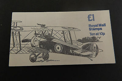 GB Folded Stamp Booklet FH2A 1980 Sopwith Camel & Vickers Vimy MILITARY AIRCRAFT