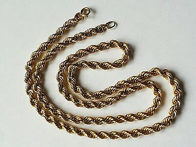 Vintage 9ct yellow gold rope chain