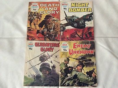 War picture library vintage Comic x4